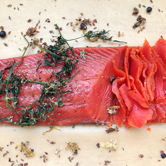 DIY Cured Salmon