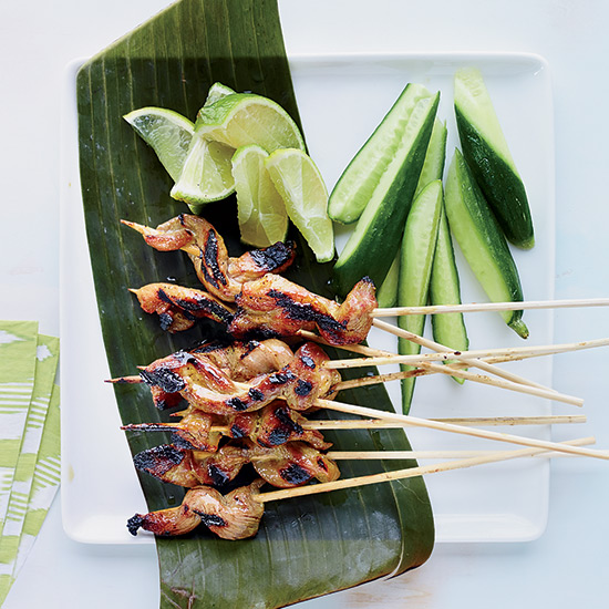 Pork Satay with Sweet Coconut-Milk Glaze