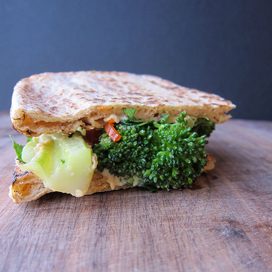 Broccoli Sandwich with a Bright, Crisp White