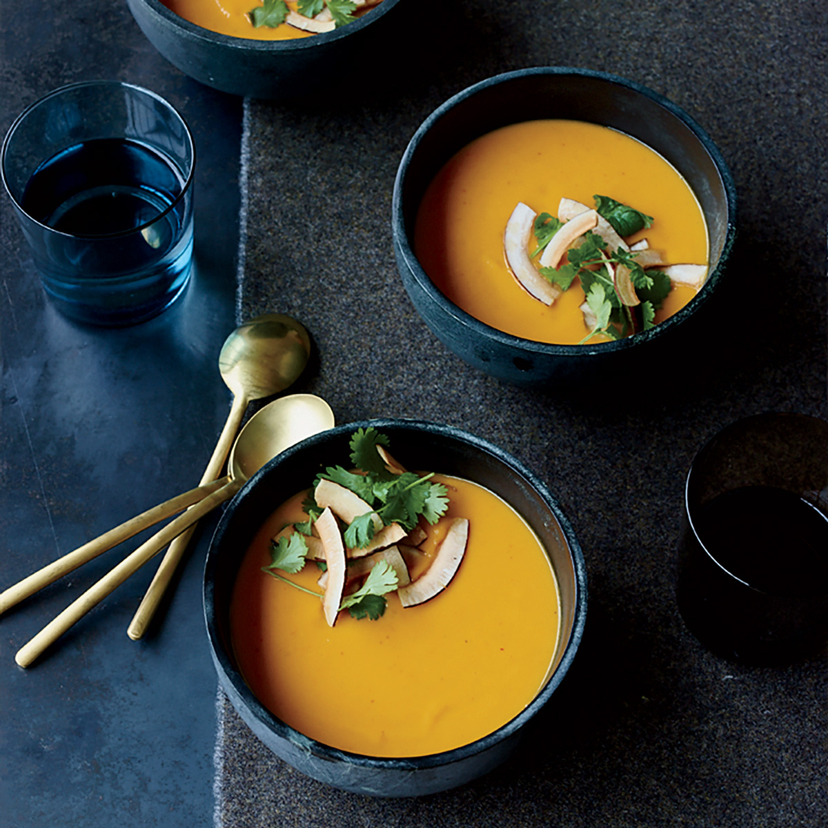 Sweet Potato–Coconut Soup with Thai Curry