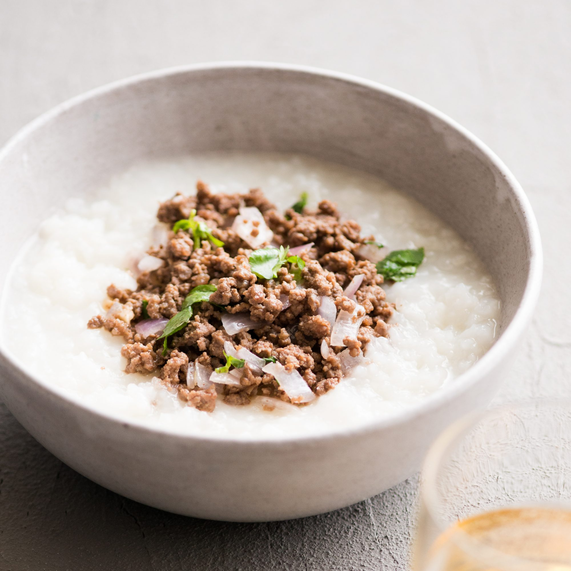 Garlic Beef and Onion Congee