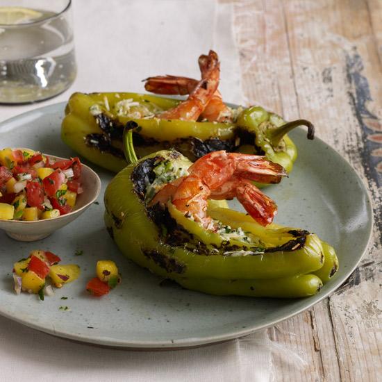Shrimp-Stuffed Peppers