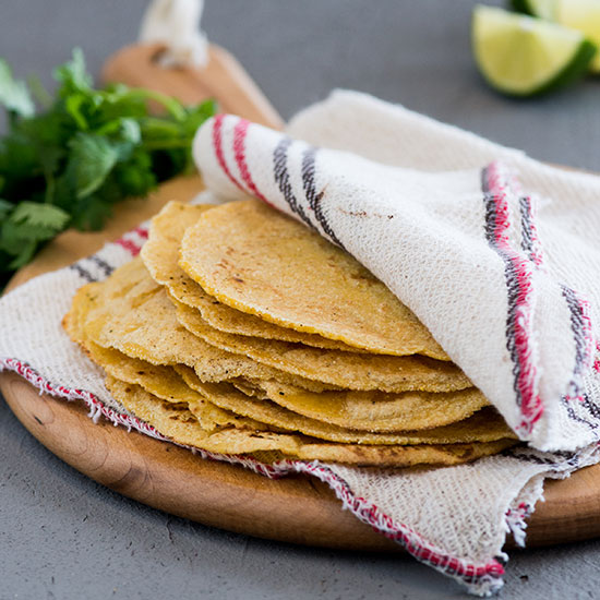 Basic Homemade Corn Tortillas