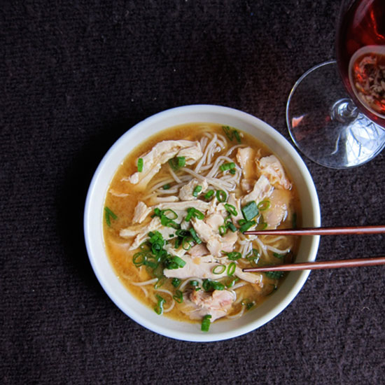 A Fast and Red Wine–Friendly Chicken Noodle Soup