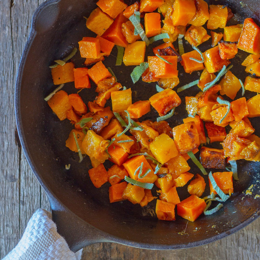 Butternut Squash with Brown Butter and Sage