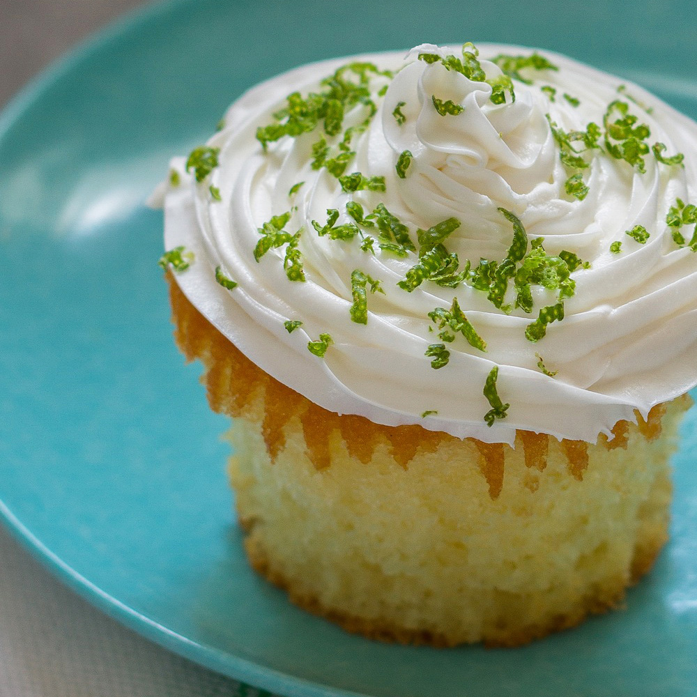 Lime-Coconut Cupcakes