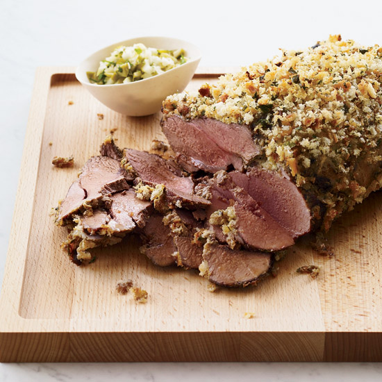 <p>Mustard-Crusted Lamb</p>