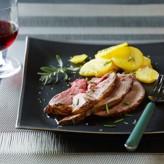 Salt-Baked Leg of Lamb with Olive Oil Potatoes