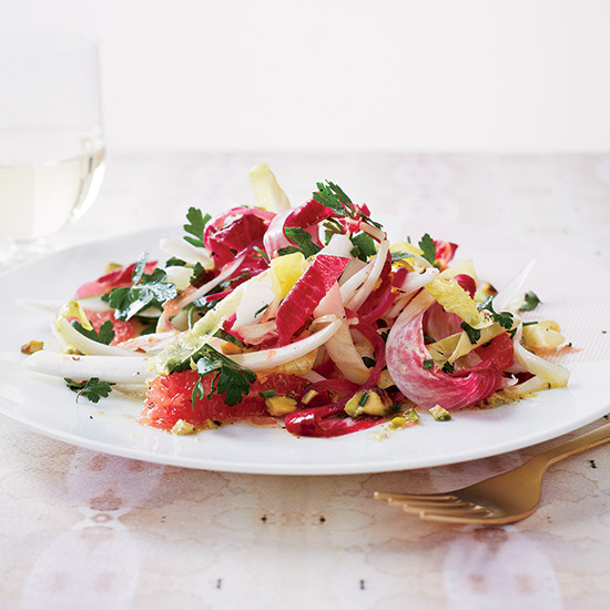Endive-and-Grapefruit Salad with Pistachio Vinaigrette