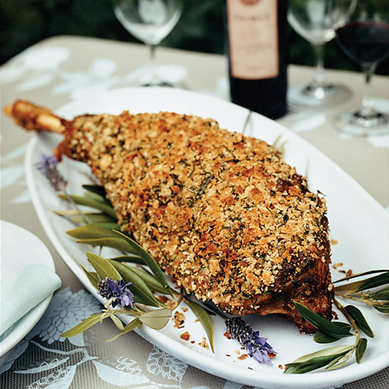 Herb-Crusted Leg of Lamb