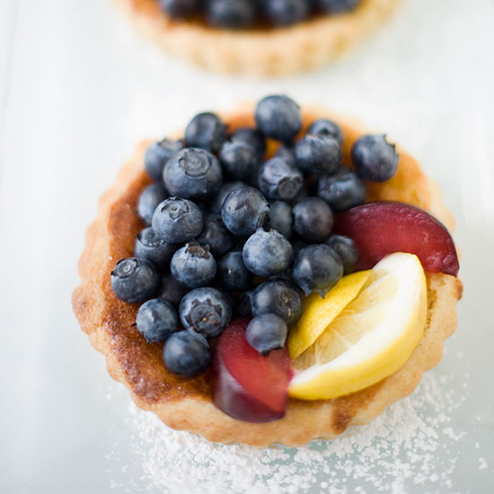 Blueberry, Lemon & Plum Tart