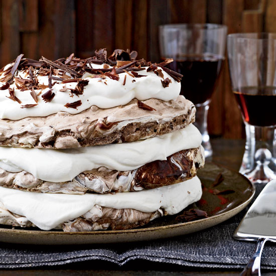 Christmas Dessert Hazelnut-and-Chocolate Meringue Cake