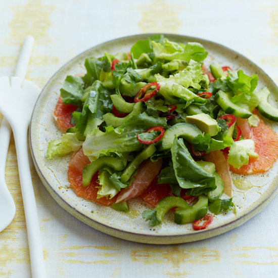 Citrus, Avocado and Escarole Salad