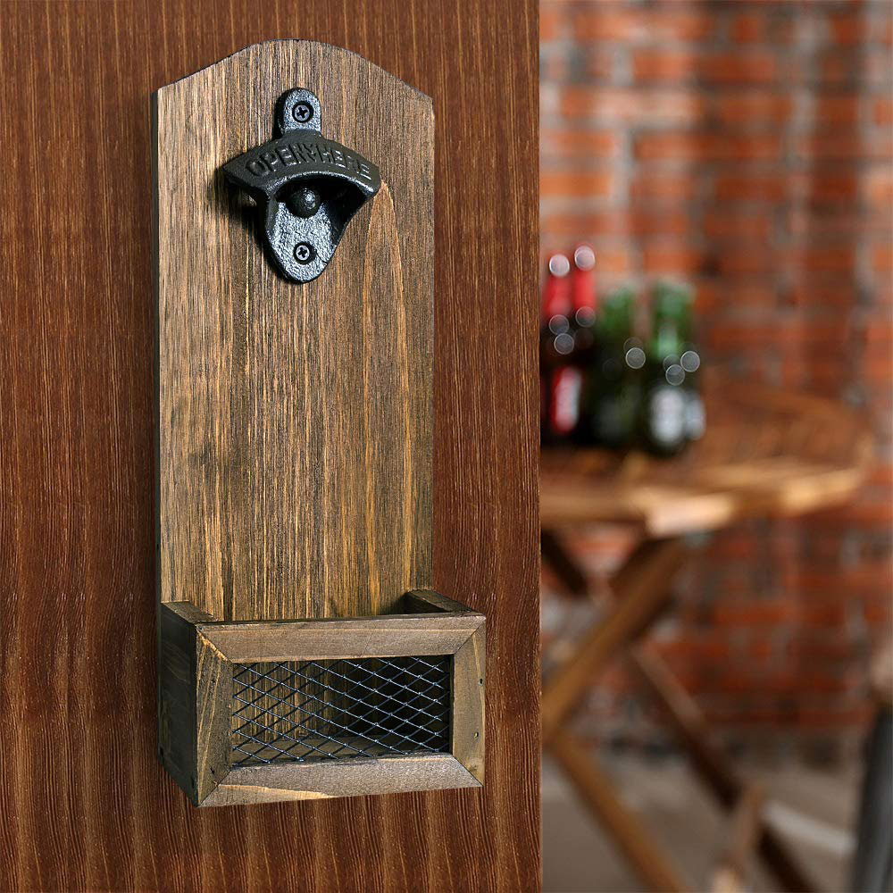 bottle opener wall fastened