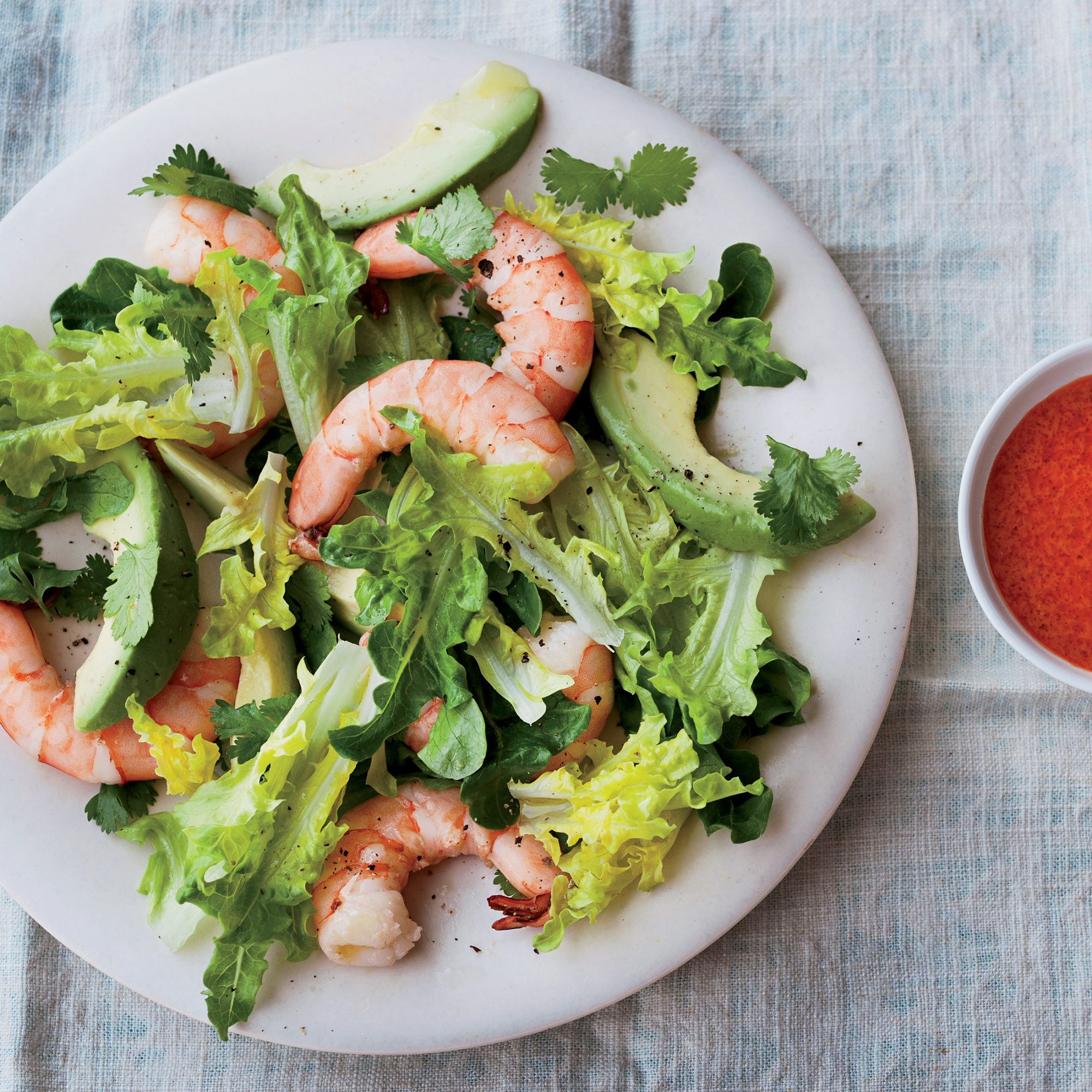 Day 2: Avocado-and-Shrimp Salad with Red Goddess Dressing