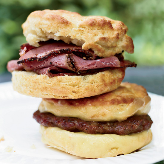 The Best Part of Waking Up is an Oversize Biscuit Stuffed with Pastrami