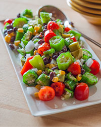 Okra Summer Salad
