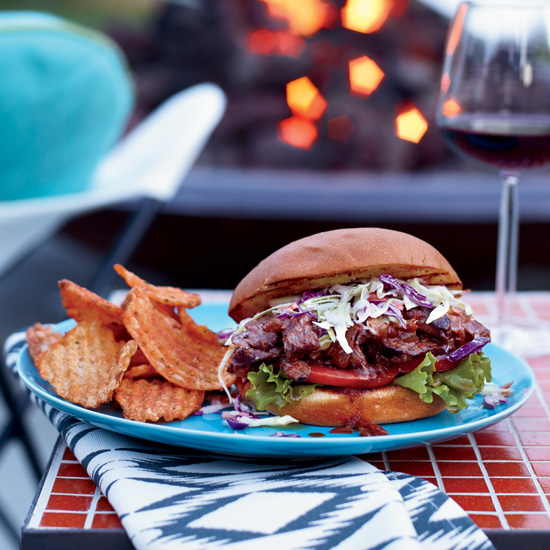 Hanger-Steak Sloppy Joes with Chopped Slaw
