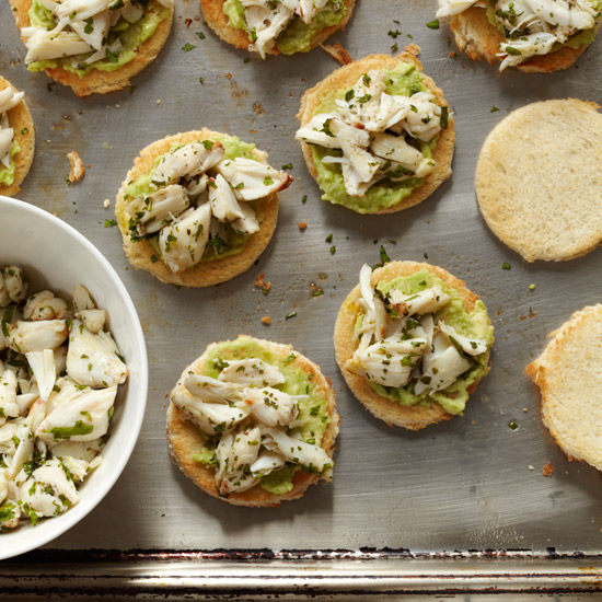Crab-and-Avocado Toasts