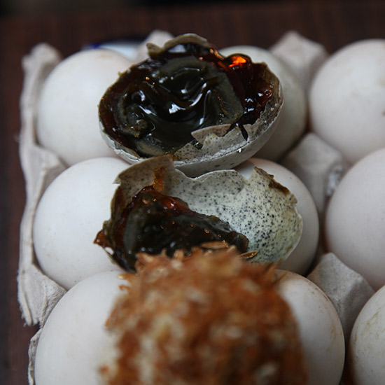 Century Old  Duck Eggs in Hong Kong