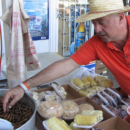 Boiled Peanuts in New Orleans
