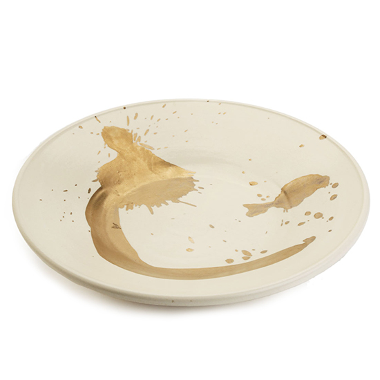 Gold Splash Plate by Kelly Wearstler