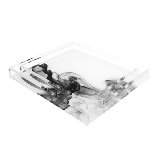 AVF Acrylic Magental Smoke Printed Trays