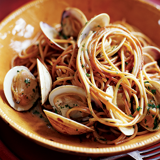Toasted Spaghetti with Clams