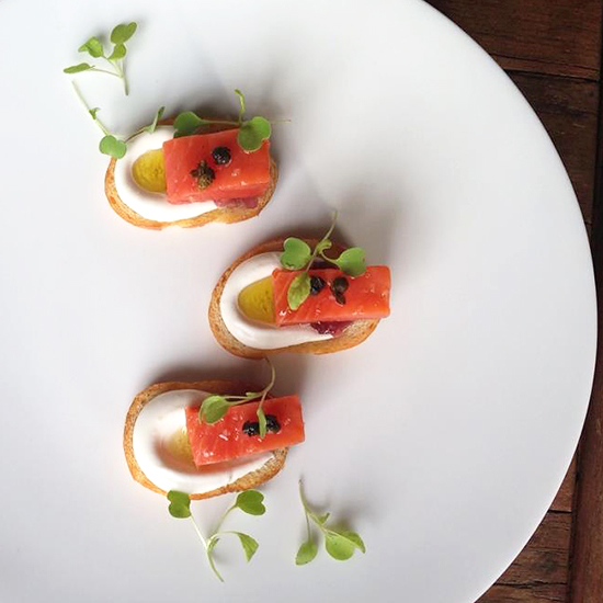 There's More to This Salmon Crostini Than Meets the Eye