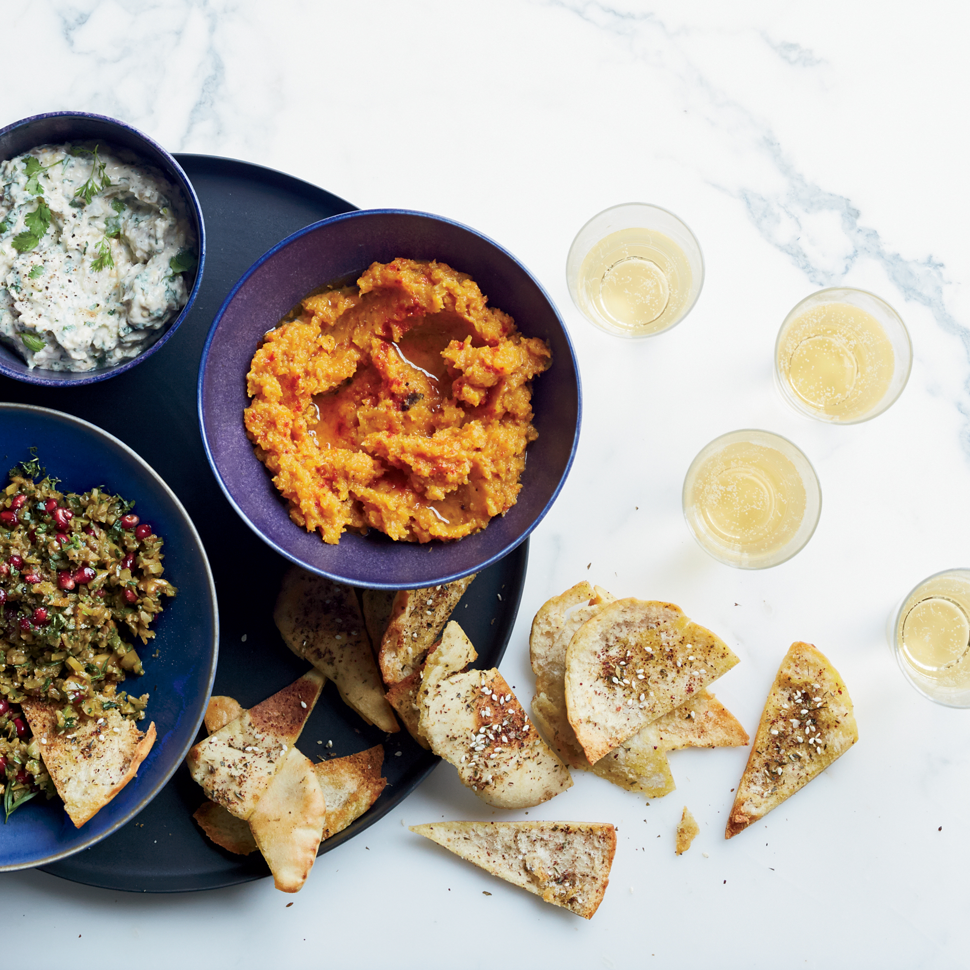 Healthy Butternut Squash and Tangelo Dip with Sage Recipe for Thanksgiving