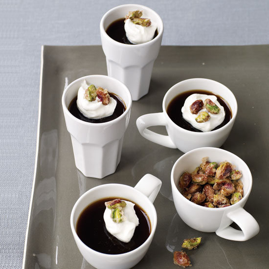 Espresso Gelées with Candied Pistachios