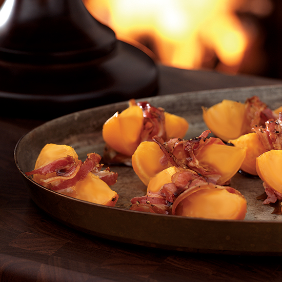 Roasted Persimmons Wrapped in Pancetta