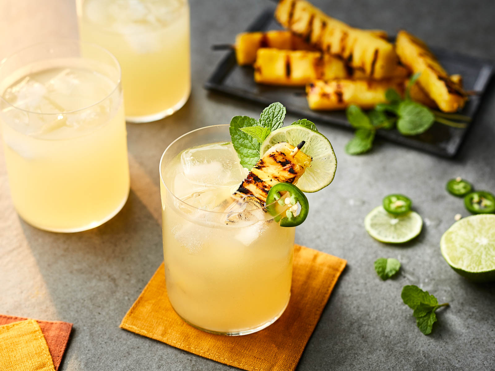 Grilled Pineapple Poncha Recipe