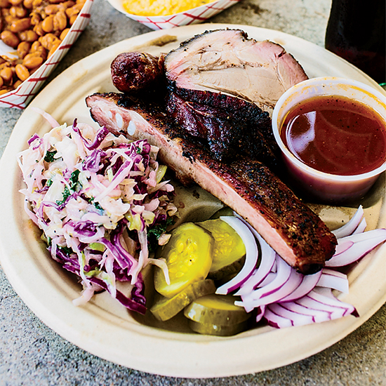 Three-Meat Plate, Micklethwait Craft Meats, Austin
