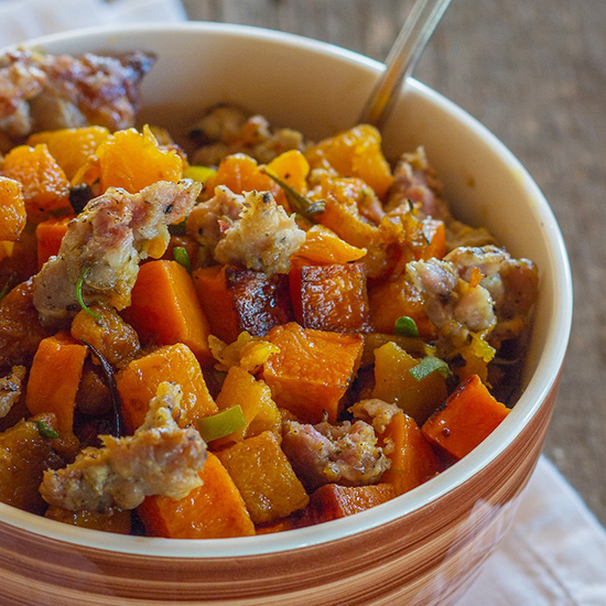 Roasted Butternut Squash and Sausage