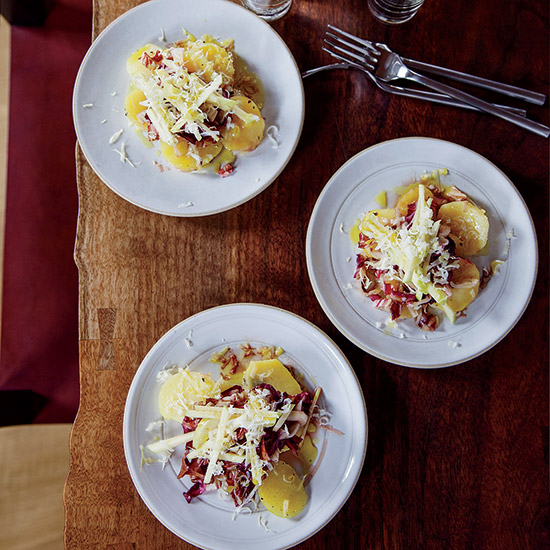 Potato-and-Radicchio Salad with Montasio Cheese