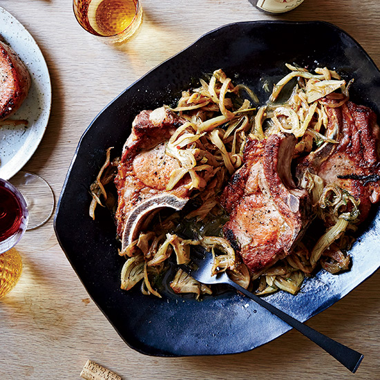 Benno and Leo's Brined Pork Chops with Fennel