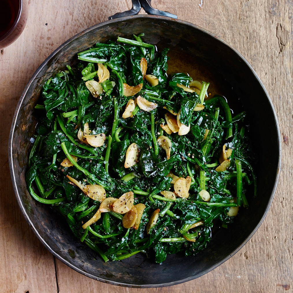 Sautéed Spinach with Lemon-and-Garlic Olive Oil