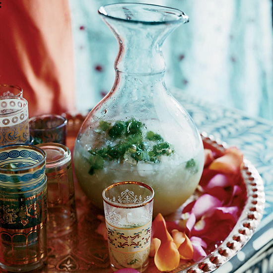Sweet Lime-Ginger Rum Punch