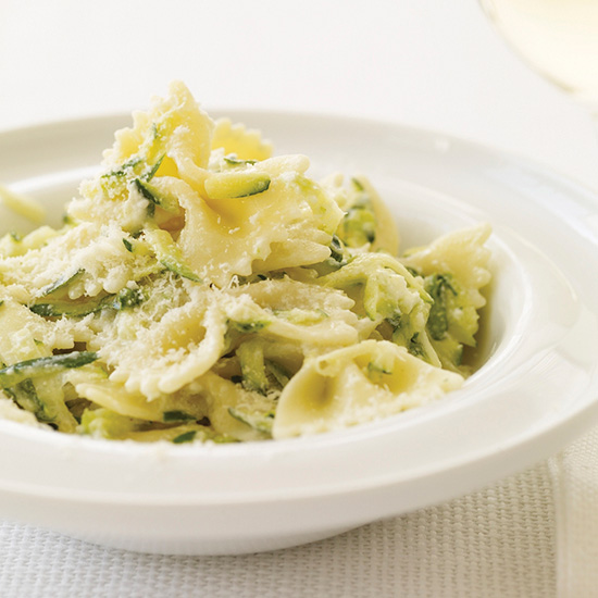 Farfalle with Yogurt and Zucchini