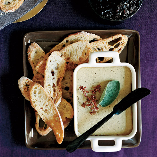 Thanksgiving Appetizer Chicken-Liver Mousse with Pickled Red Onion