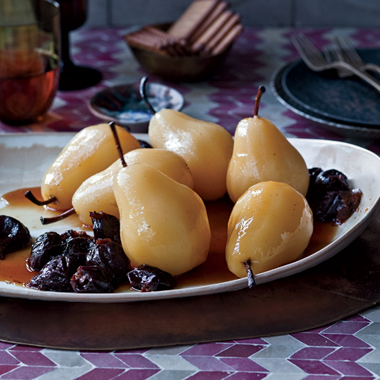 Poached Pears with Prunes