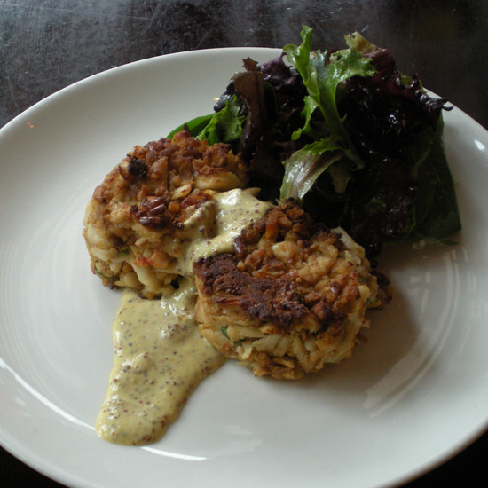 Pretzel-Crusted Crab Cakes