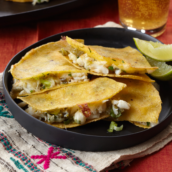 Crab Quesadillas with Pickled Jalapeños