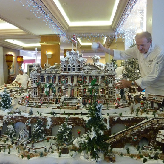 Santa's German Gingerbread Village
