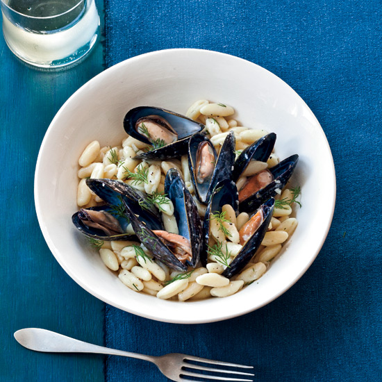 Cavatelli with Mussels, Lillet and Dill