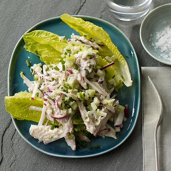 Smoked Mackerel Salad with Crunchy Vegetables