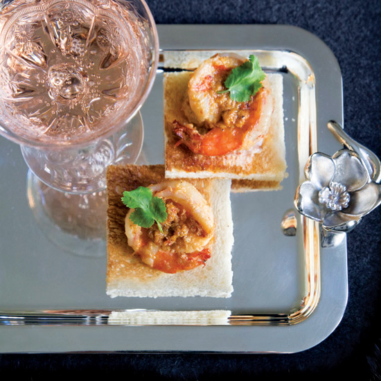 Lemongrass Shrimp on Toast