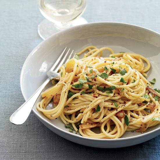 Spaghetti with Anchovy Carbonara
