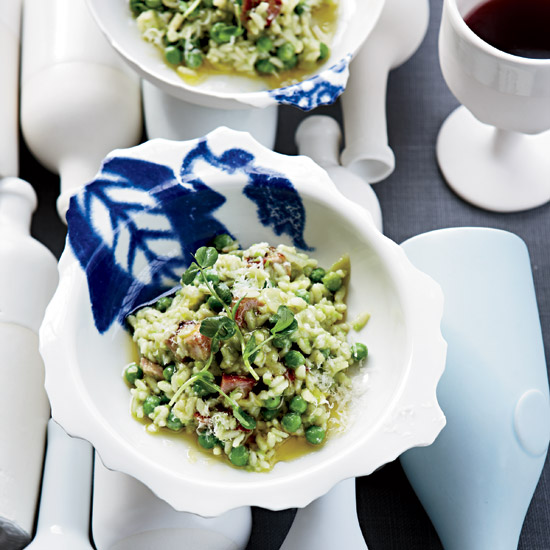 Pea-and-Bacon Risotto